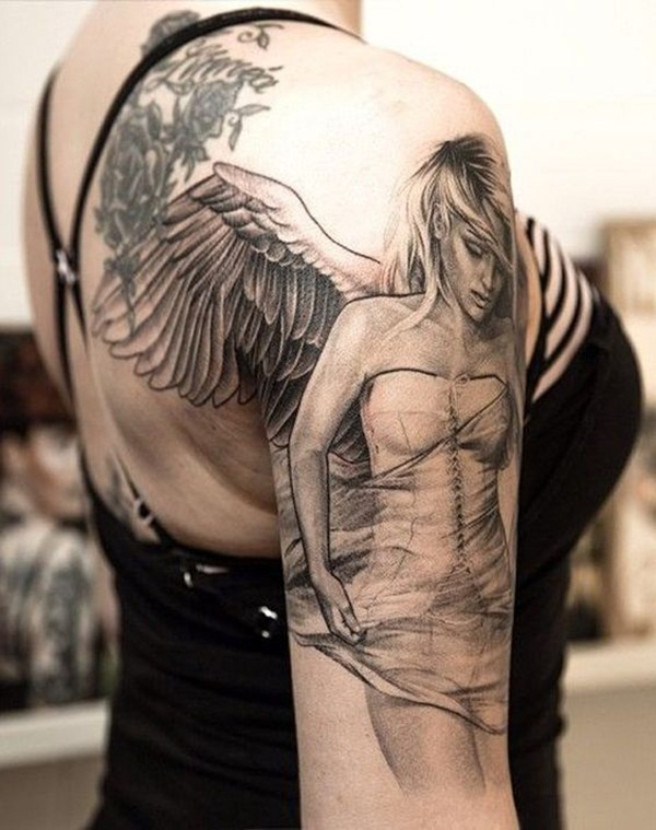 Angel tattoo designs and ideas24