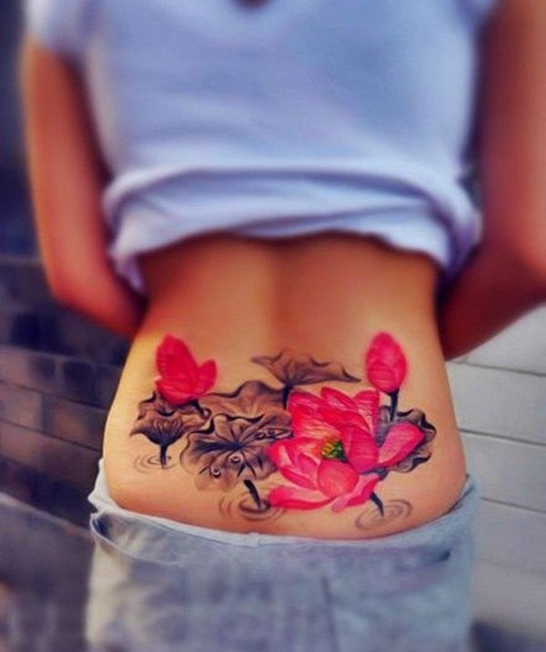 Lower back tattoo designs for women44