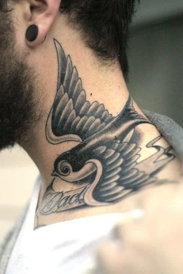 Neck Tattoo Designs and ideas58