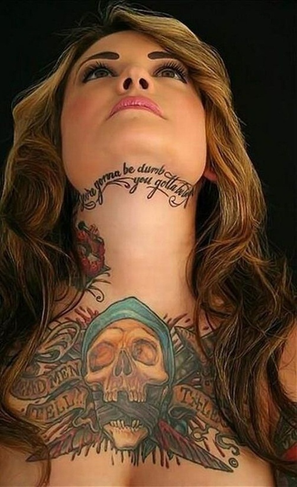 Neck Tattoo Designs and ideas60