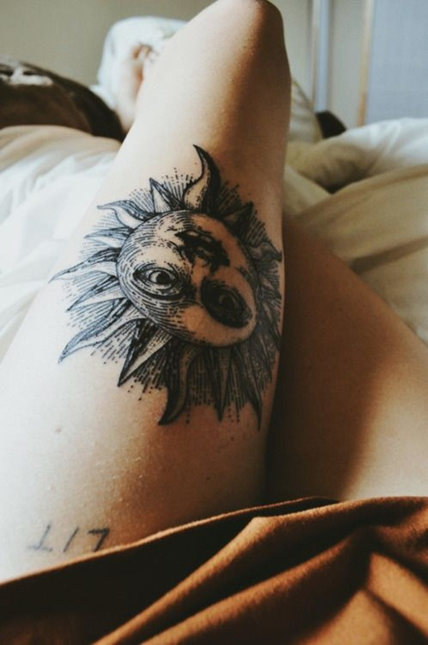 sexy sun tattoo designs 29