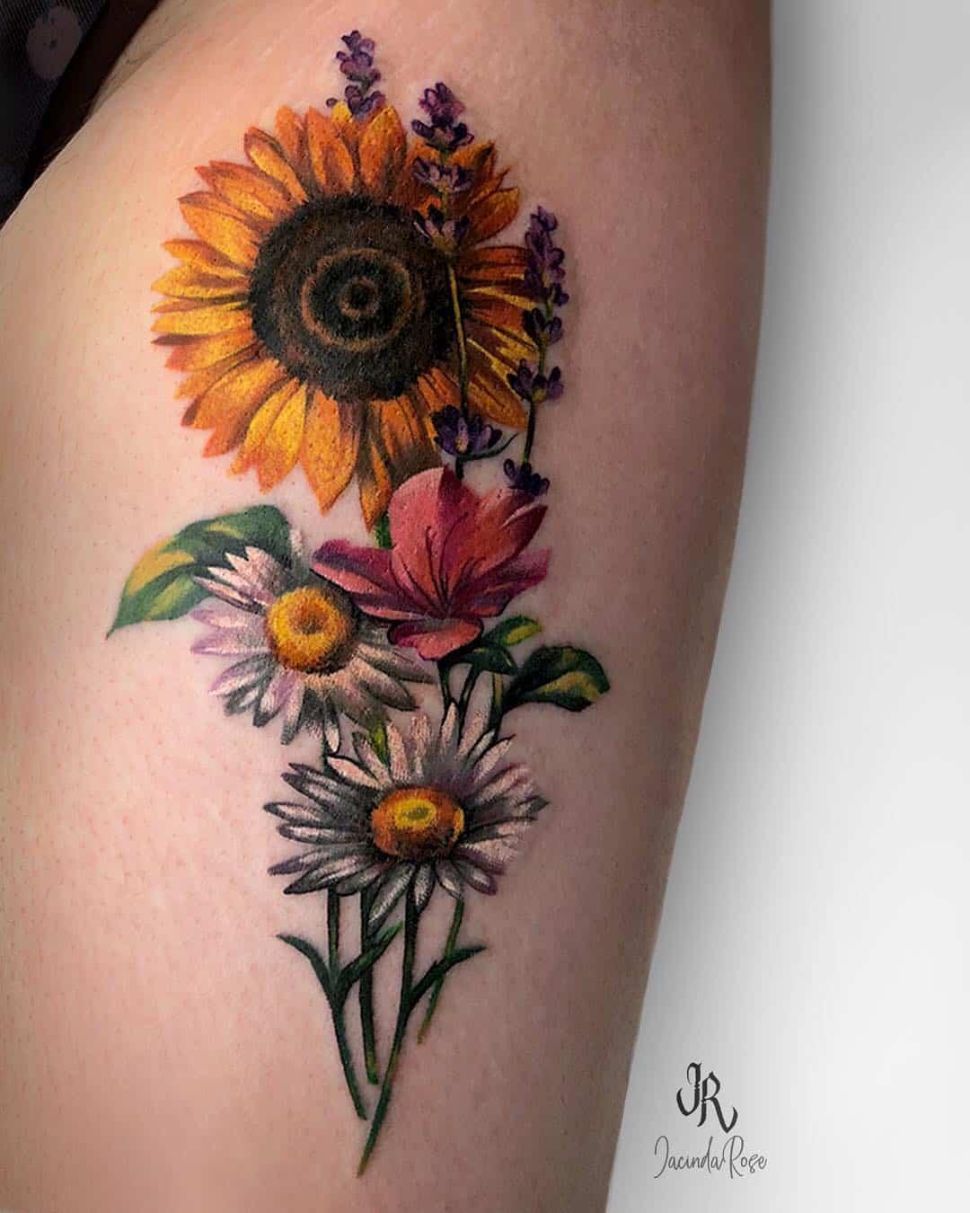 Sunflower Tattoo Wrist Small Flower Tattoos Novocom Top